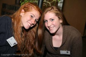 Event Volunteers Two Pretty Redheads